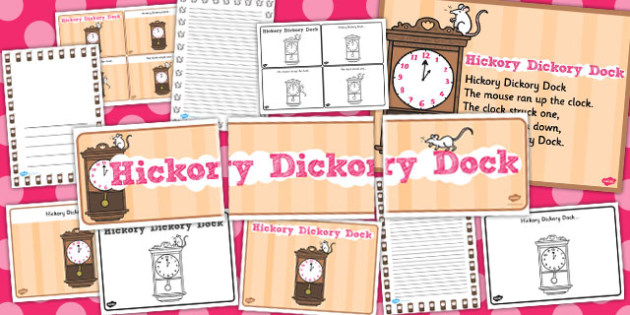 Hickory Dickory Dock Resource Pack - hickory dickory dock, resource pack, pack of resources, themed resource pack, hickory dickory dock pack, nursery rhyme
