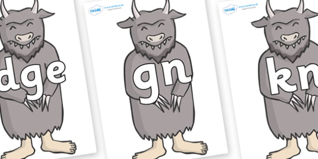 Silent Letters on Wild Thing (3) to Support Teaching on Where the Wild Things Are - Silent Letters, silent letter, letter blend, consonant, consonants, digraph, trigraph, A-Z letters, literacy, alphabet, letters, alternative sounds