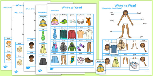 Where to Wear? Game Resource Pack - where to wear, game, resource, pack