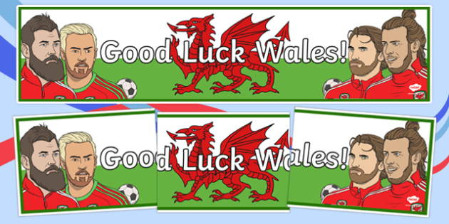 Good Luck Wales! Display Banner