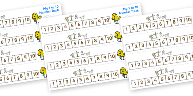 Native American Number track (1-10) - Maths, Math, native americans, number track, numbertrack, Counting, Numberline, Number line, Counting on, Counting back, Native Americans, indian, moccasin, bow and arrow, dream catcher, wild west