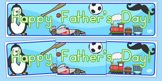 Happy Fathers Day Display Banner - father, dad, daddy, header