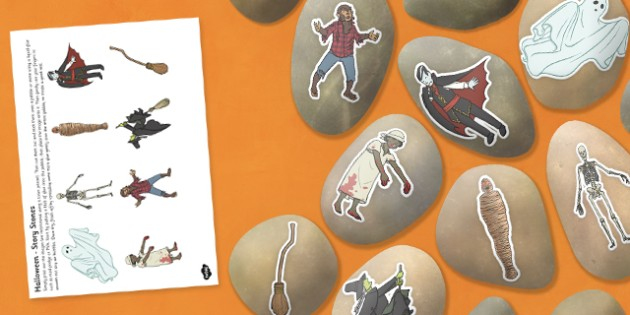 Halloween Story Stone Image Cut Outs - halloween, story stone, cut outs