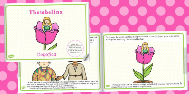 Thumbelina eBook Romanian Translation - story, stories, storybook