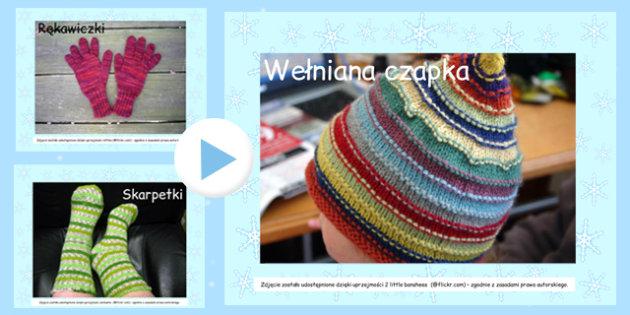 Prezentacja Powerpoint Zimowe ubrania po polsku - odzież