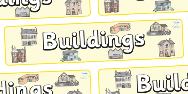 Buildings Display Banner - houses and homes, house, home, building, display, banner, poster, brick, stone, detached, terraced, bathroom, kitchen, door, caravan, where we live, ourselves