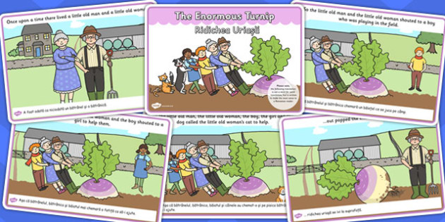 The Enormous Turnip Story EAL Romanian Translation - stories