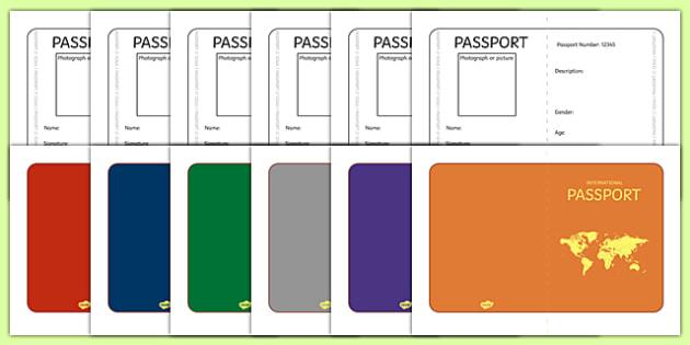 International Passport Template - Passport, Design, holiday, holidays, travel, passport design, fine motor skills, card template, holidays, water, tide, waves, sand, beach, sea, sun, holiday, coast