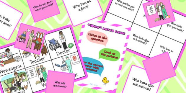 Who People Lotto Bingo - who, question game, bingo, lotto, game