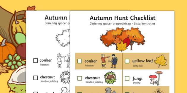 Autumn Hunt Checklist Polish Translation-Polish-translation