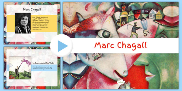 Marc Chagall PowerPoint KS1 - Marc Chagall, cubism, 20th century artists
