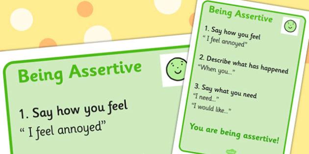 Assertiveness Visual Support - assertive, visuals, visual, assert