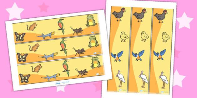 African Hen Story Display Borders - border, displays, frames