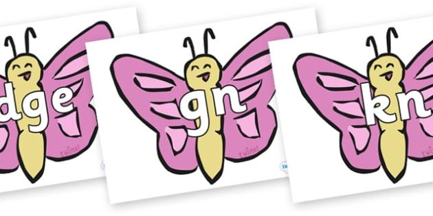 Silent Letters on Butterflies - Silent Letters, silent letter, letter blend, consonant, consonants, digraph, trigraph, A-Z letters, literacy, alphabet, letters, alternative sounds