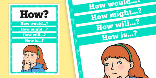 How? Question Poster - how, question, poster, display, question words