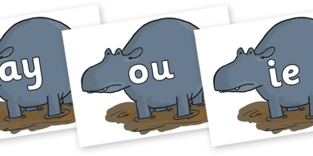 Phase 5 Phonemes on Humpy Rumpy Hippopotamus to Support Teaching on The Enormous Crocodile - Phonemes, phoneme, Phase 5, Phase five, Foundation, Literacy, Letters and Sounds, DfES, display