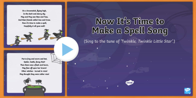 Now It's Time to Make a Spell Song PowerPoint