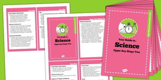 2014 Curriculum Cards UKS2 Science - new curriculum, planning