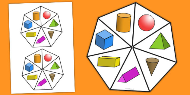 3D Shape Spinner - 3d shape, spinner, 3d, shape, numeracy, maths