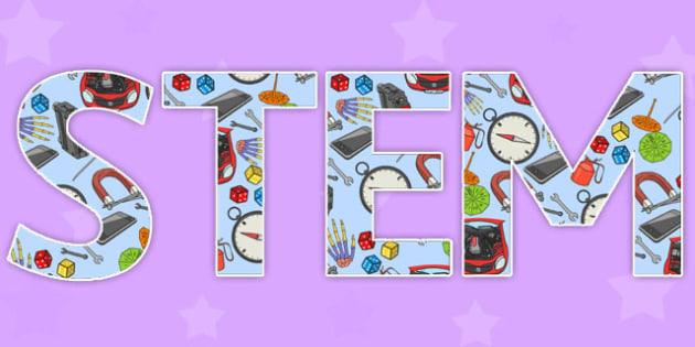 STEM Display Lettering - stem, display lettering, display, lettering