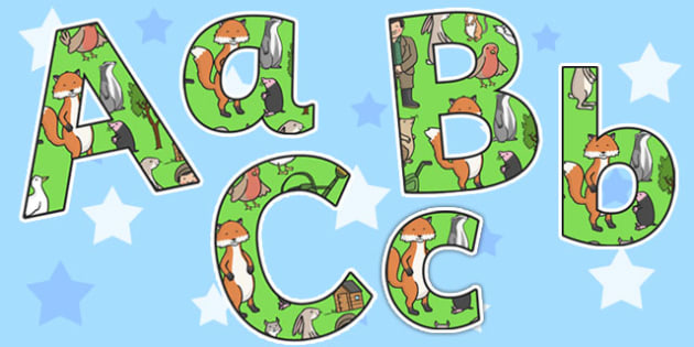 Display Lettering Editable to Support Teaching on Percy the Park Keeper - lettering