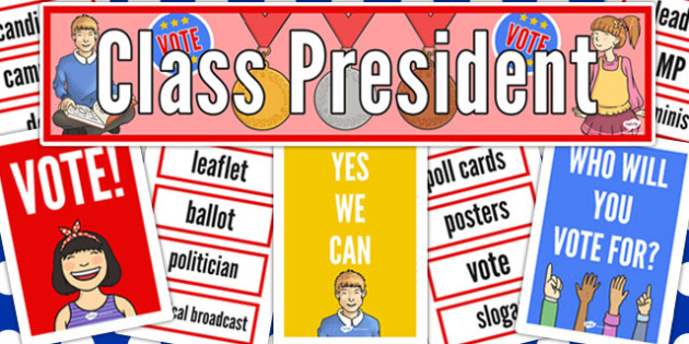 Class President Display Pack - class, president, display, pack