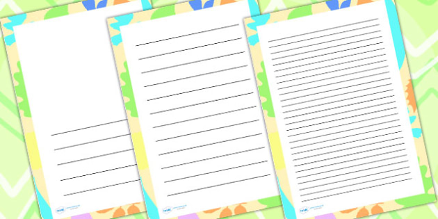 Abstract Leaf Page Borders - writing templates, writing border