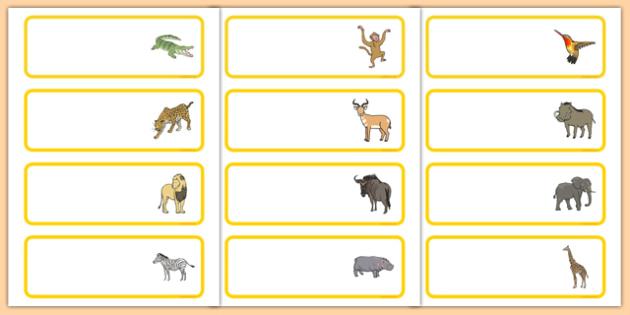 Crocodile Themed Editable Drawer Peg Name Labels - The Selfish Crocodile, classroom management, peg labels, drawers, new class, ks1, ks2, organisation,