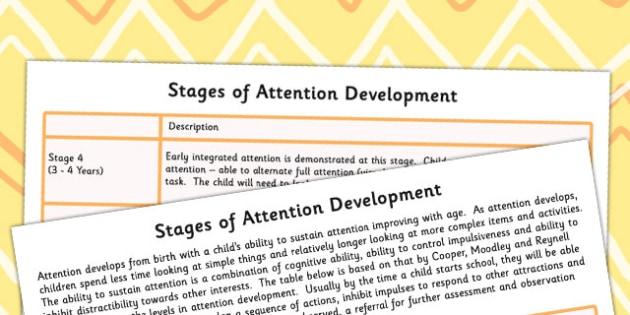 Stages Of Attention Development - attention, develop, SEN, prompt