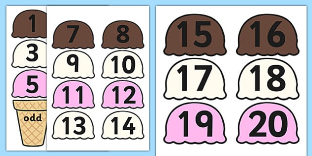 Odd and Even Ice Cream Sorting Activity - odd, even, odd and even, sorting activity, sorting, sorting games, numeracy, numeracy activities, numeracy games