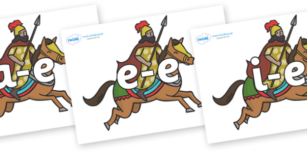 Modifying E Letters on Egyptian Warriors - Modifying E, letters, modify, Phase 5, Phase five, alternative spellings for phonemes, DfES letters and Sounds