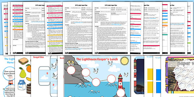 EYFS Adult Input Planning and Resource Pack to Support Teaching on the Lighthouse Keeper's Lunch - adult led, EYFS planning, early years plan