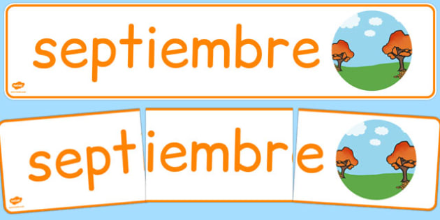 Septiembre Display Banner Spanish - spanish, year, months of the year, september