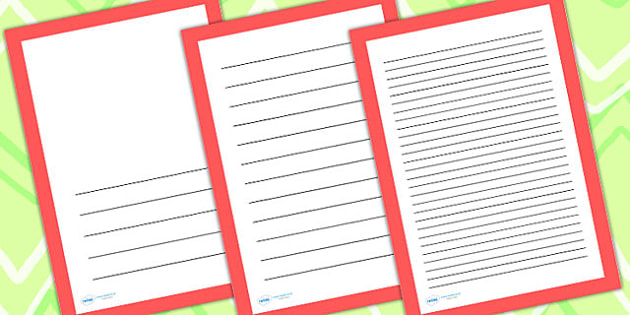 Plain Red Page Borders - writing templates, writing frame, border