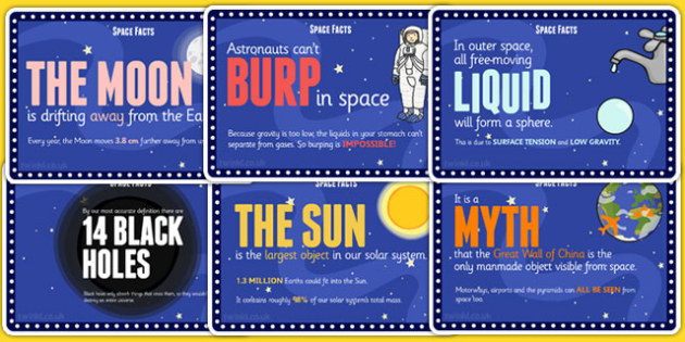 Space Facts Cards - space, facts, challenge, cards