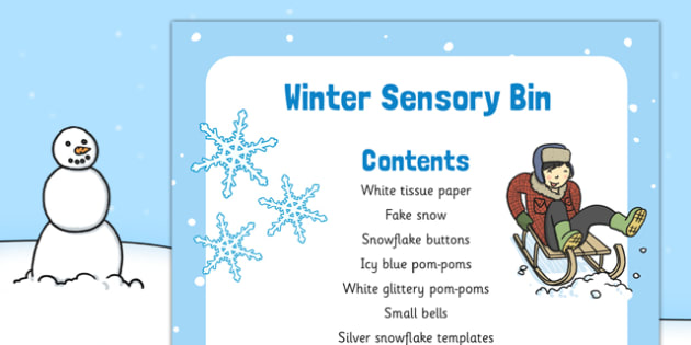 Winter Themed Sensory Bin - winter, sensory bin, eyfs, sensory, bin, early years