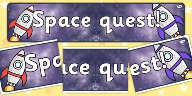 Space Quest Topic Display Banner - space display banner, space quest, space quest display banner, space topic display banner, space topic