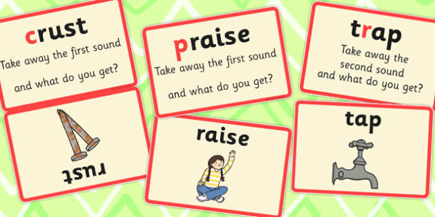 Splitting Blends Matching Cards (Set 2) - split, words, literacy, visual