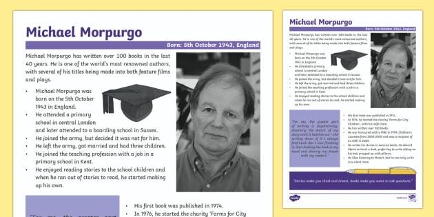 Michael Morpurgo Fact File