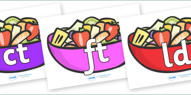 Final Letter Blends on Fruit Salad - Final Letters, final letter, letter blend, letter blends, consonant, consonants, digraph, trigraph, literacy, alphabet, letters, foundation stage literacy