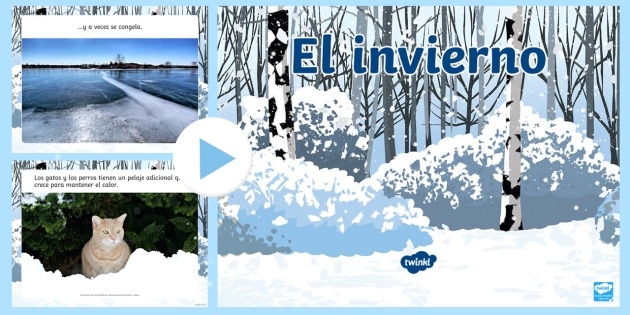 Winter Information PowerPoint-Spanish - Winter, seasons, KS2, powerpoint, Spanish, key stage 2, ks2, keystage2, key stage two
