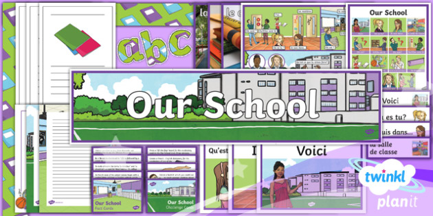 PlanIt - French Year 3 - Our School Additional Resources - French