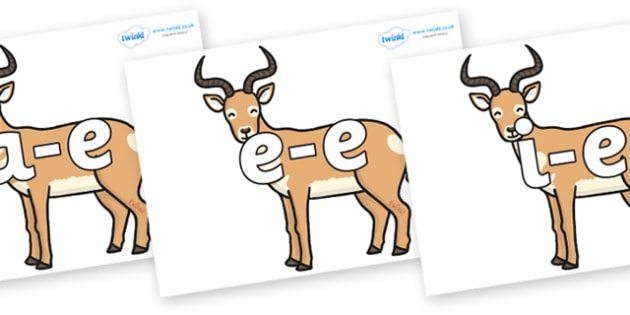Modifying E Letters on Antelopes - Modifying E, letters, modify, Phase 5, Phase five, alternative spellings for phonemes, DfES letters and Sounds