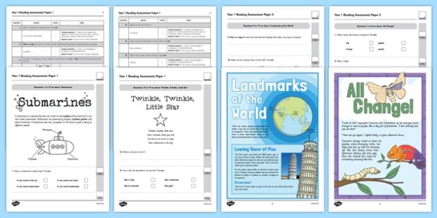 Year 1 Reading Assessment Term 3 - formative, summative, diagnostic, fiction, non-fiction