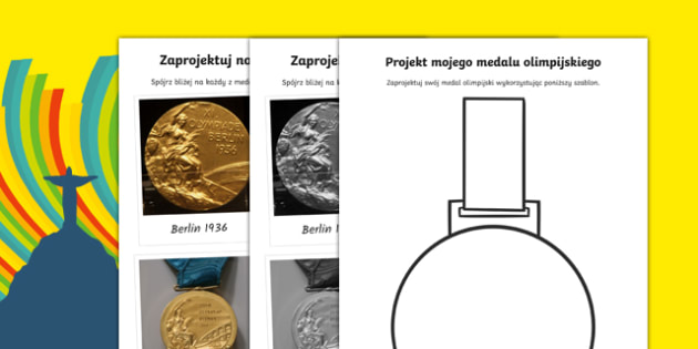 Zaprojektuj swój medal olimpijski po polsku