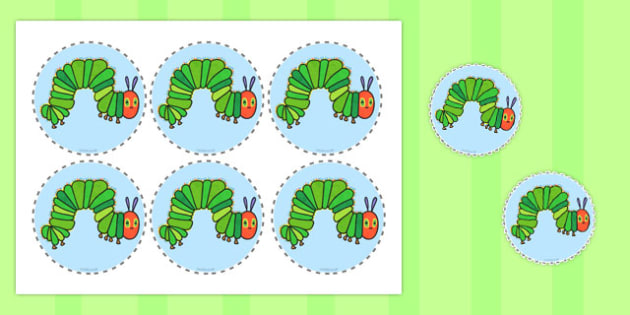 Circular Picture Cut Outs to Support Teaching on The Very Hungry Caterpillar - australia