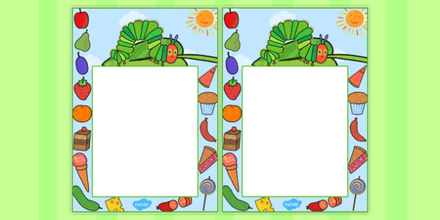 Themed Editable Note to Support Teaching on The Very Hungry Caterpillar - australia