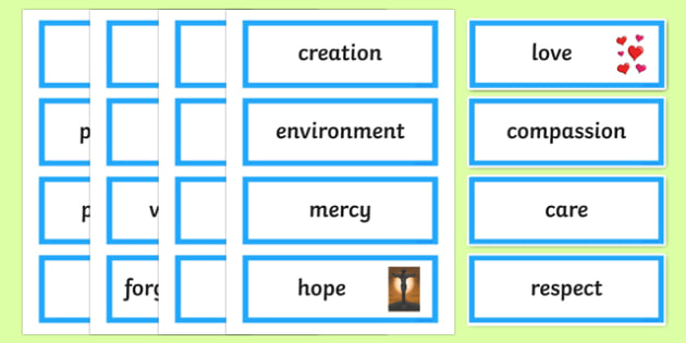 Year of Mercy Word Cards