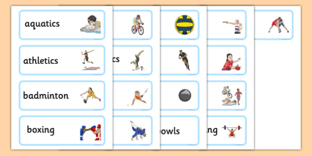 Commonwealth Games Word Cards - commonwealth, sport, word cards