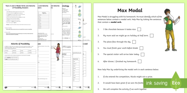 Years 5 and 6: Modal Verbs and Adverbs of Possibility Activity Booklet